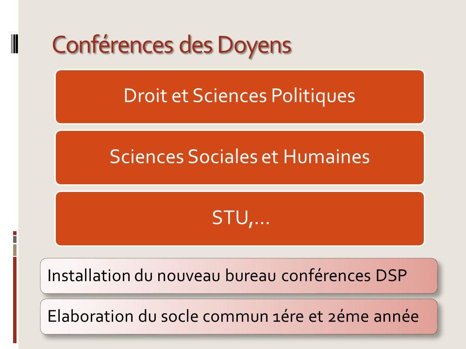 Conférences des Doyens