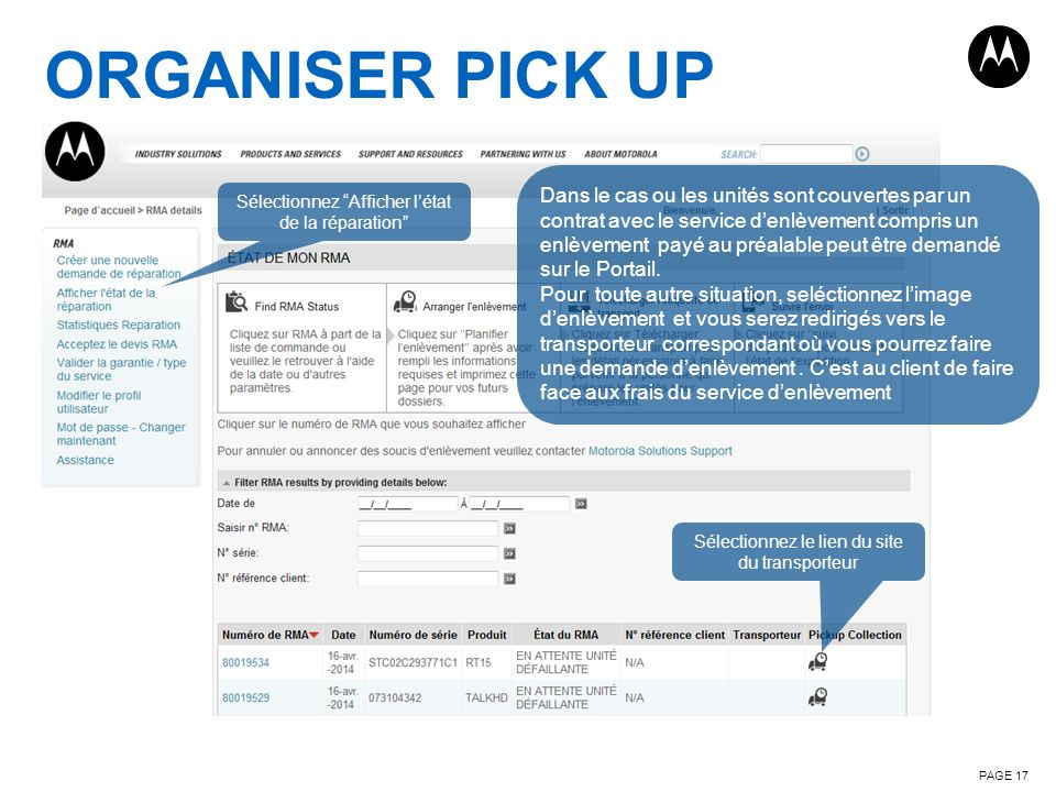 ORGANISER PICK UP