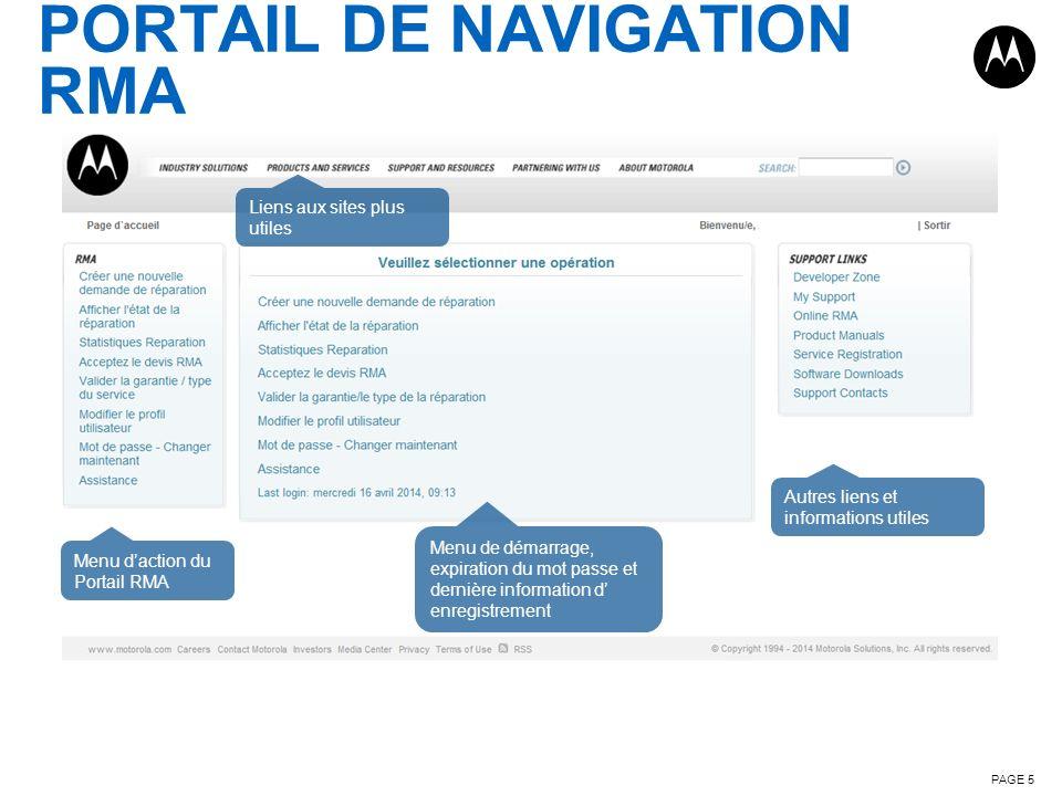 PORTAIL DE NAVIGATION RMA