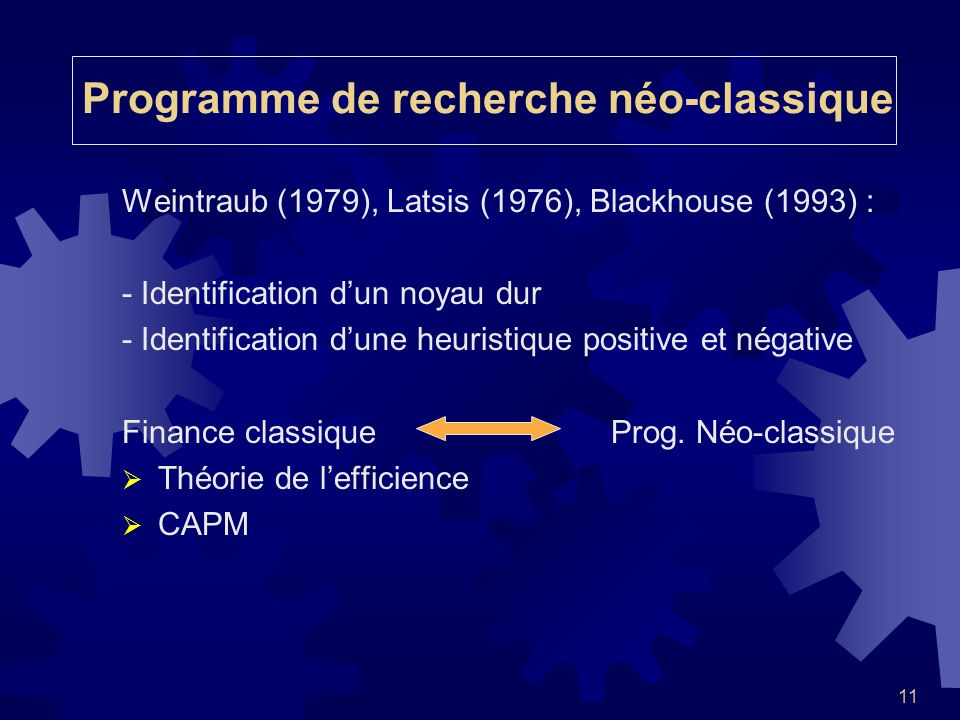 Programme de recherche néo-classique