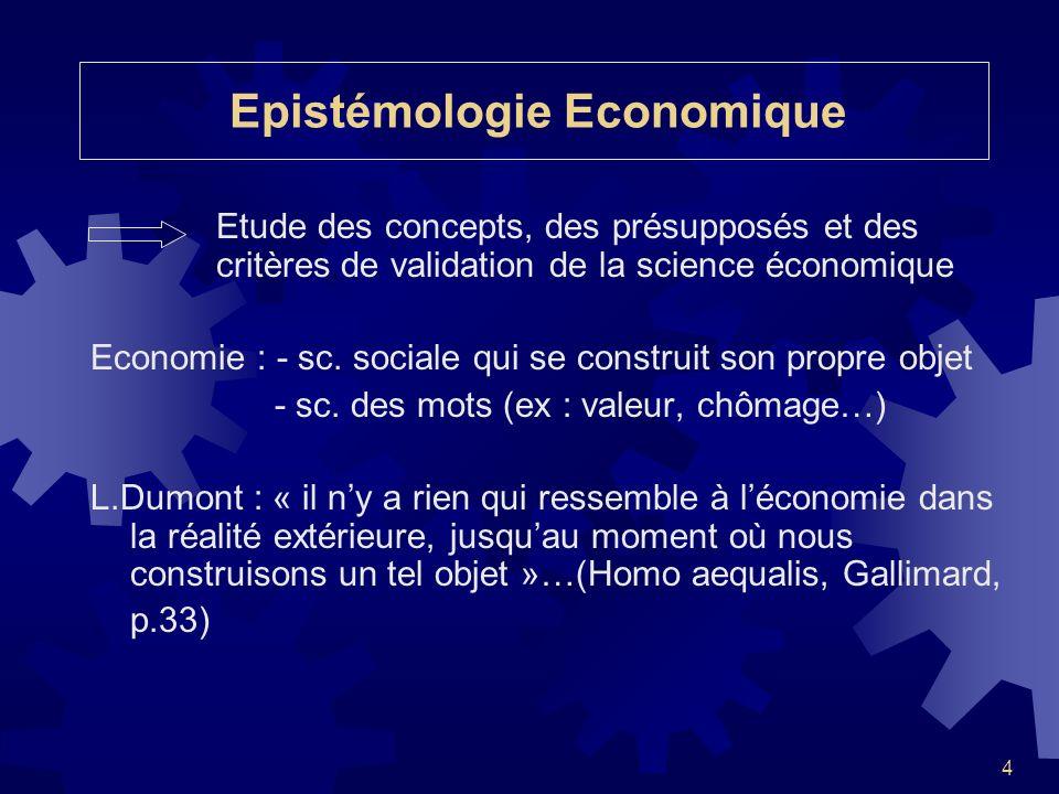 Epistémologie Economique