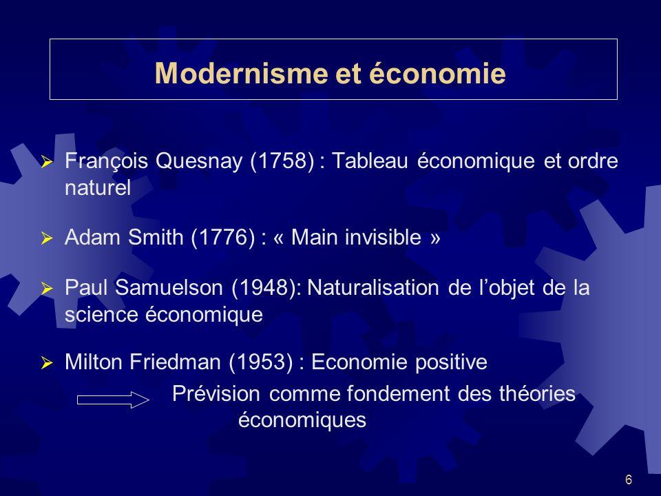 Modernisme et économie