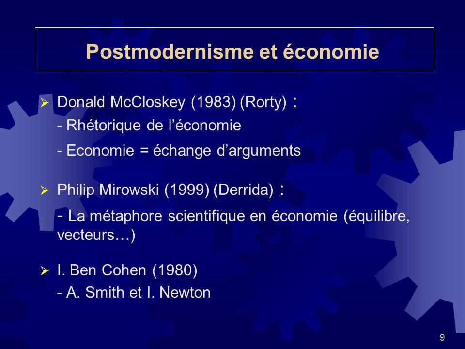 Postmodernisme et économie