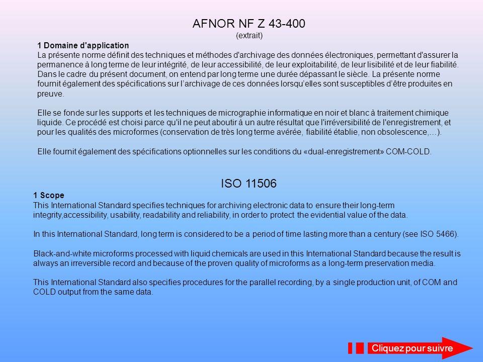 AFNOR NF Z 43-400 ISO 11506 Cliquez pour suivre (extrait)
