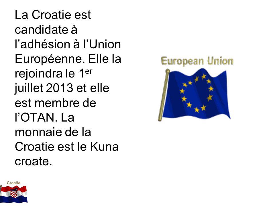 La Croatie est candidate à l'adhésion à l'Union Européenne