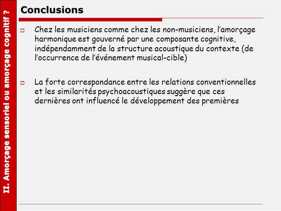 II. Amorçage sensoriel ou amorçage cognitif
