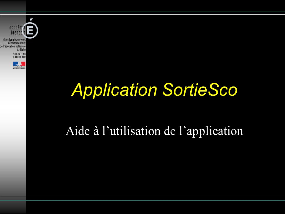 Application SortieSco