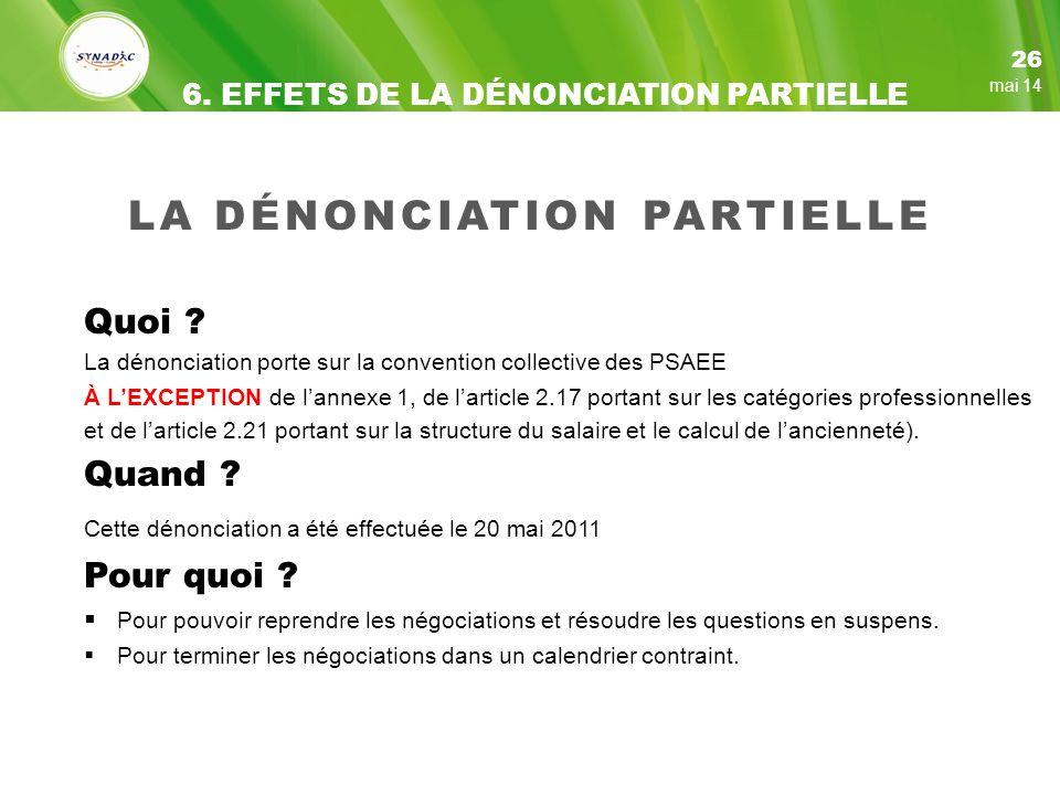 LA DÉNONCIATION PARTIELLE