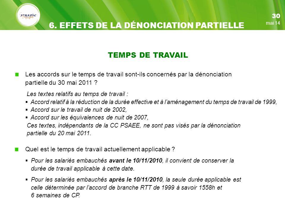 6. EFFETS DE LA DÉNONCIATION PARTIELLE