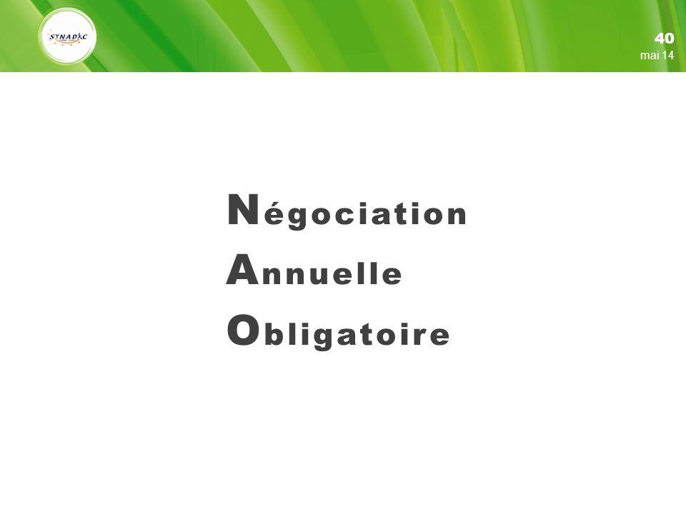 Négociation Annuelle Obligatoire