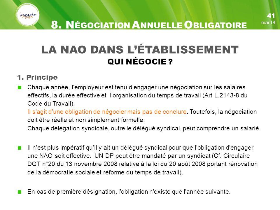 8. NÉGOCIATION ANNUELLE OBLIGATOIRE