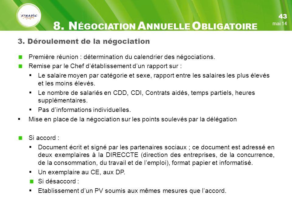 3. Déroulement de la négociation