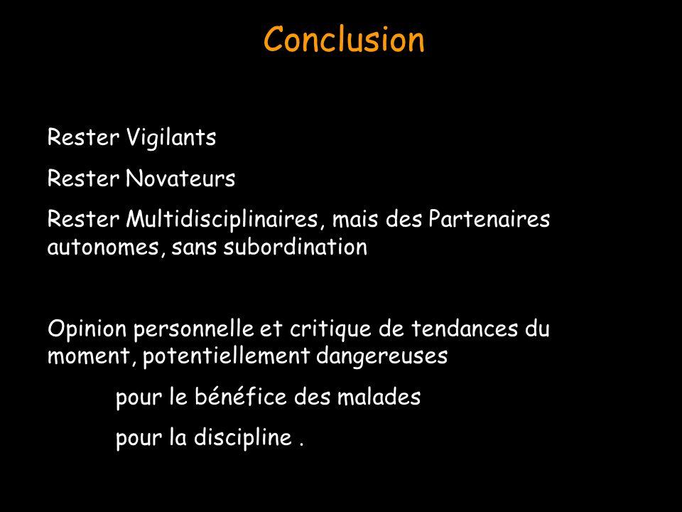 Conclusion Rester Vigilants Rester Novateurs