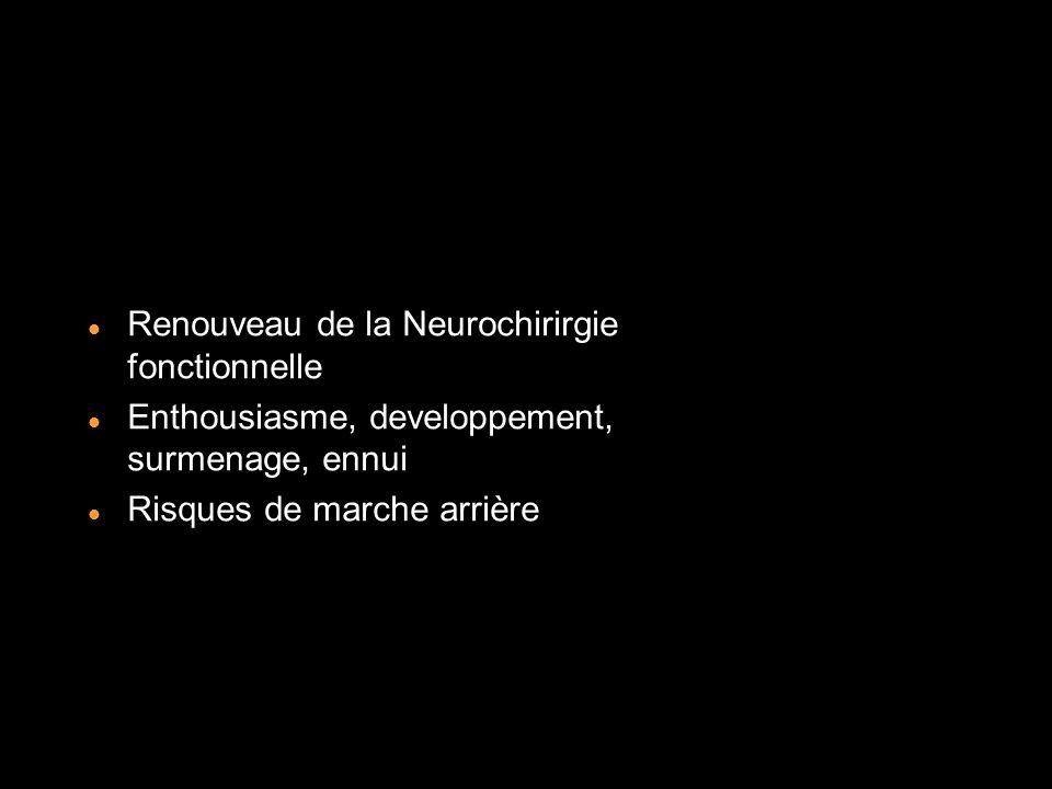 Renouveau de la Neurochirirgie fonctionnelle