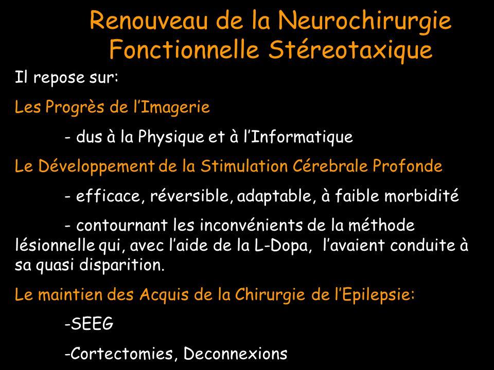 Renouveau de la Neurochirurgie Fonctionnelle Stéreotaxique