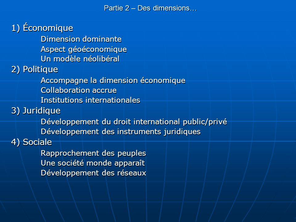 Partie 2 – Des dimensions…