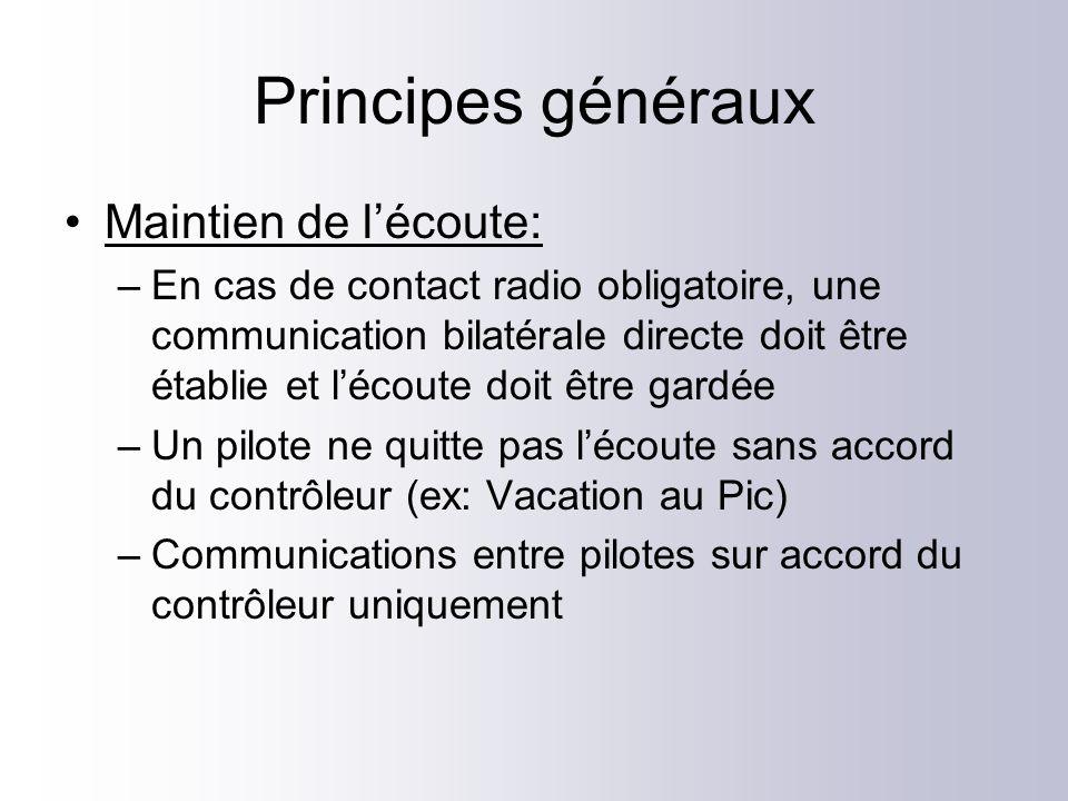 Principes généraux Maintien de l'écoute: