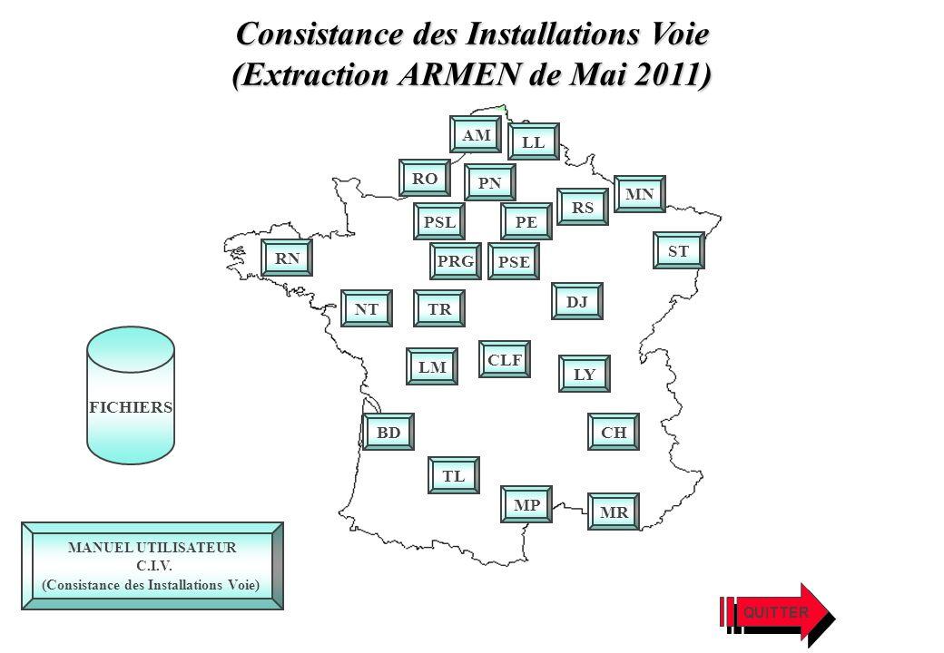 Consistance des Installations Voie (Extraction ARMEN de Mai 2011)