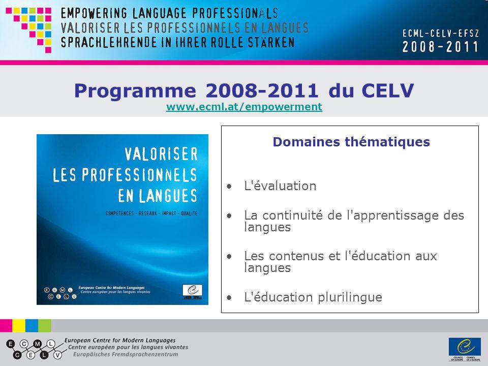 Programme 2008-2011 du CELV www.ecml.at/empowerment