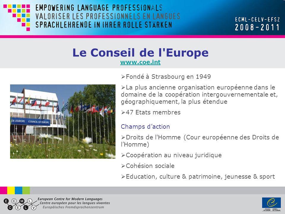 Le Conseil de l Europe Fondé à Strasbourg en 1949