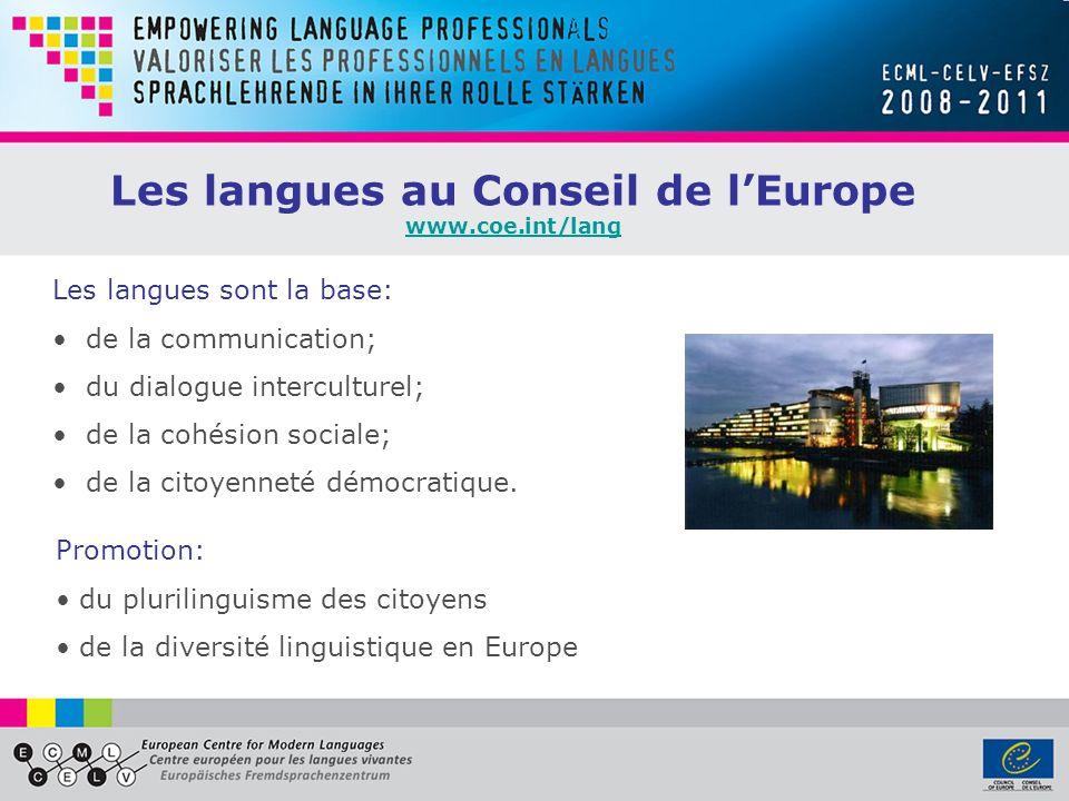 Les langues au Conseil de l'Europe
