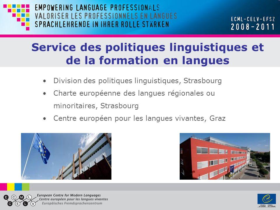 Service des politiques linguistiques et de la formation en langues