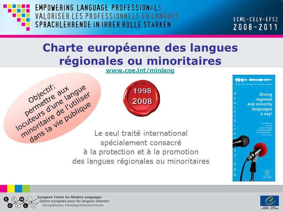 Charte européenne des langues régionales ou minoritaires www. coe