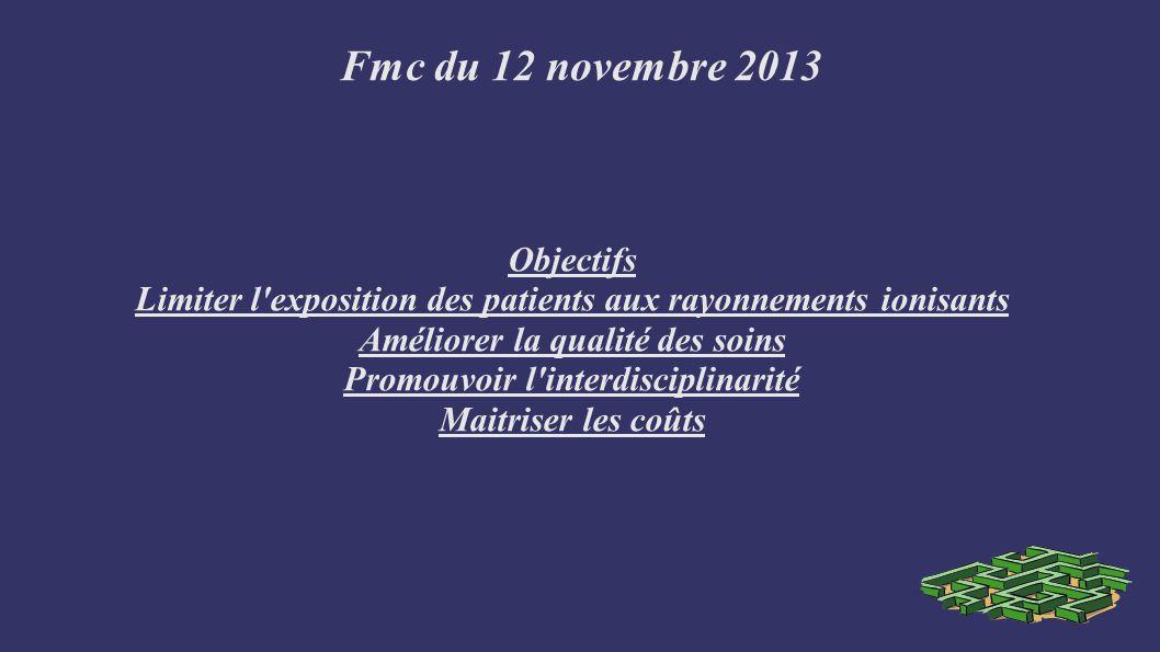 Fmc du 12 novembre 2013 Objectifs