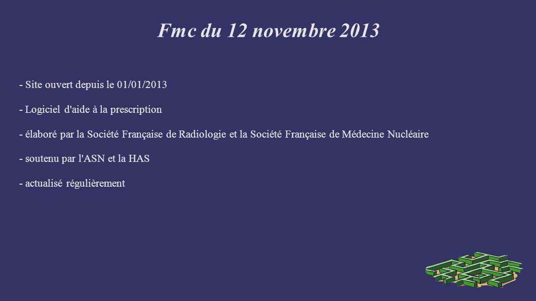 Fmc du 12 novembre 2013 - Site ouvert depuis le 01/01/2013