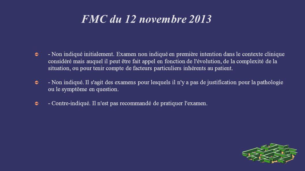 FMC du 12 novembre 2013