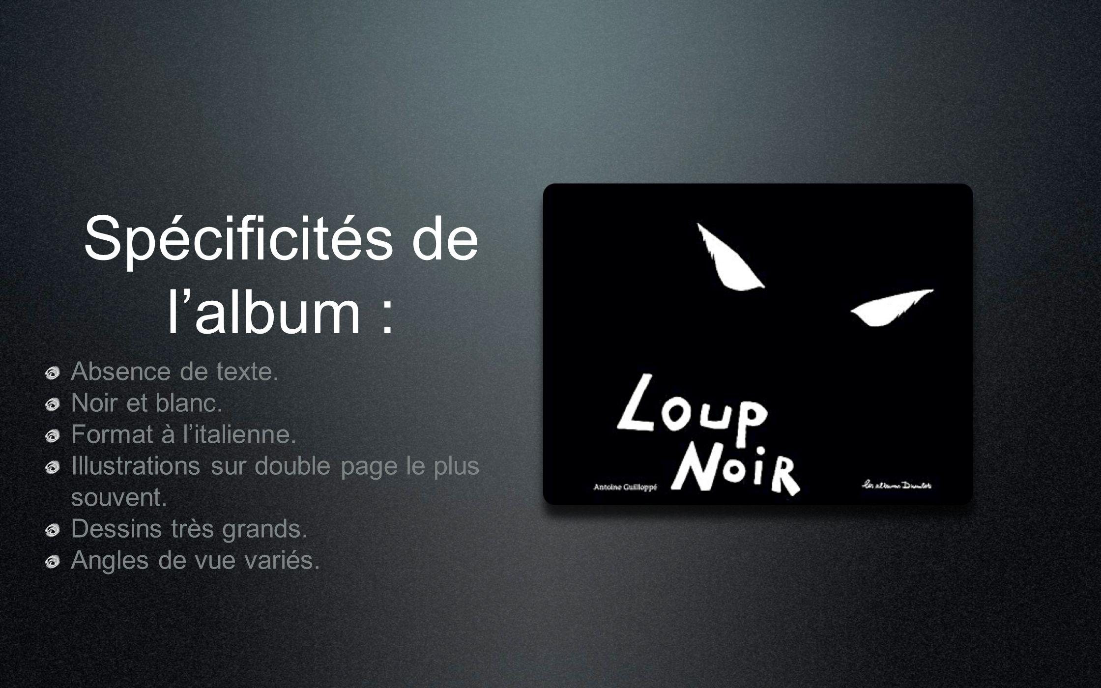 Spécificités de l'album :