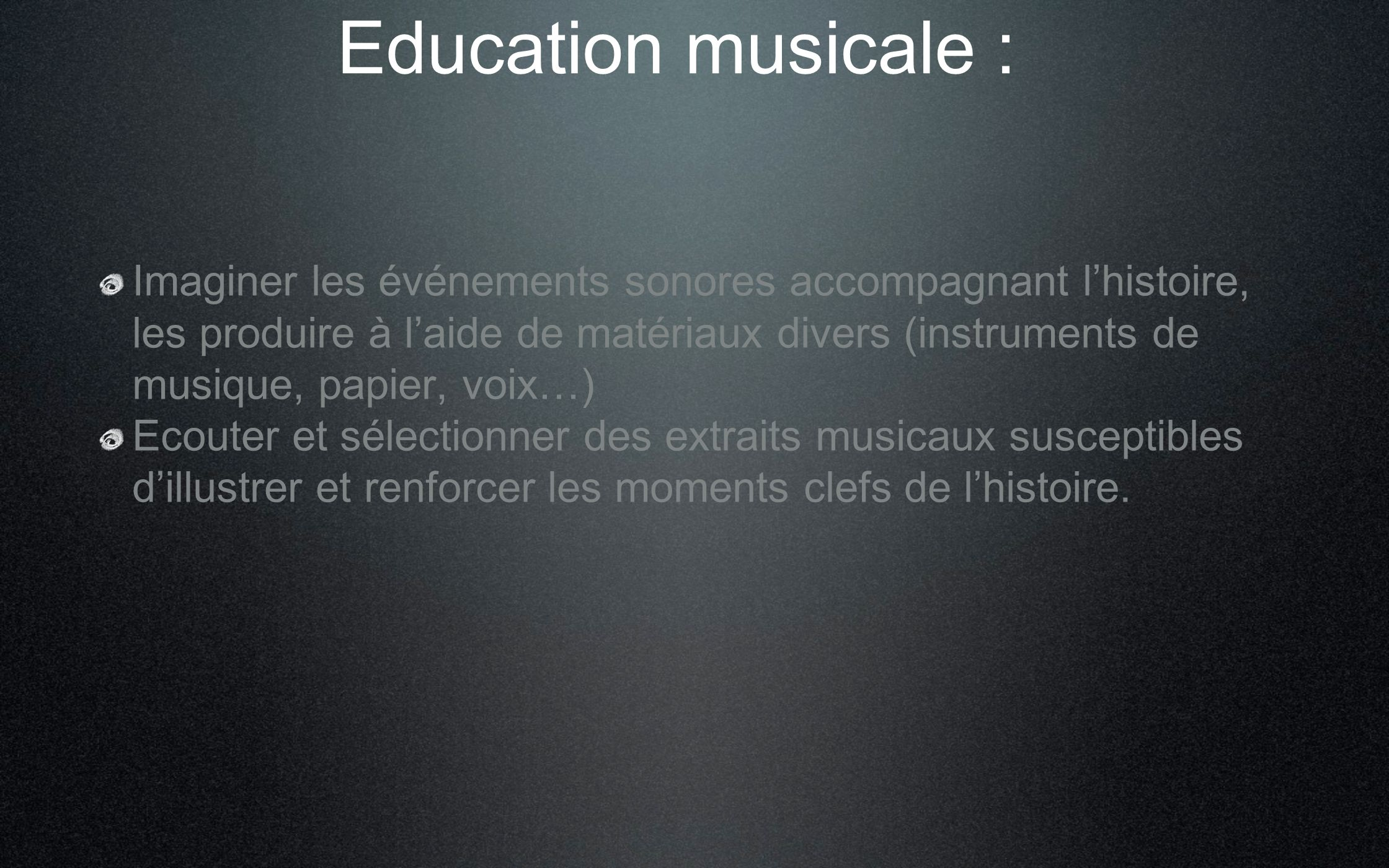 Education musicale :