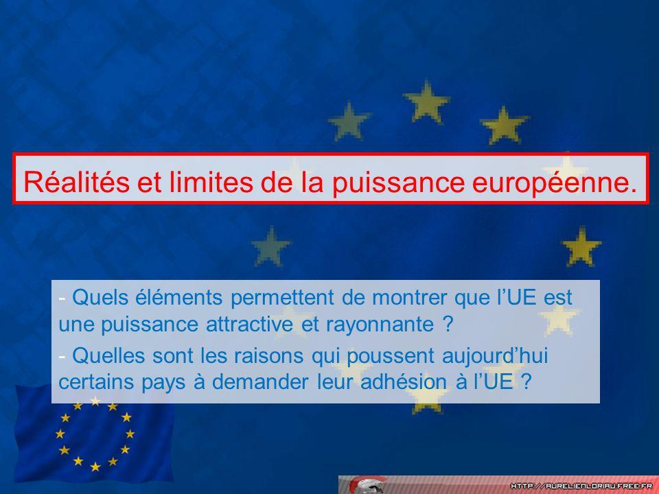 Réalités et limites de la puissance européenne.