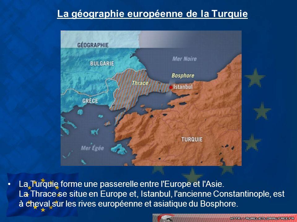 La géographie européenne de la Turquie