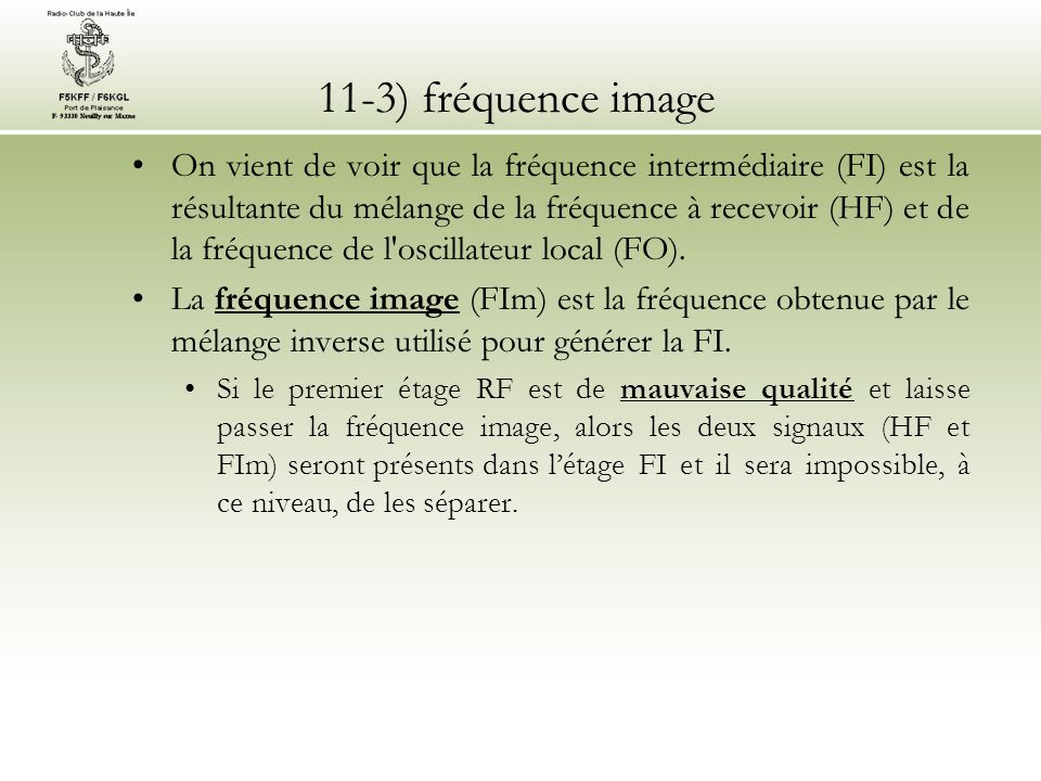11-3) fréquence image