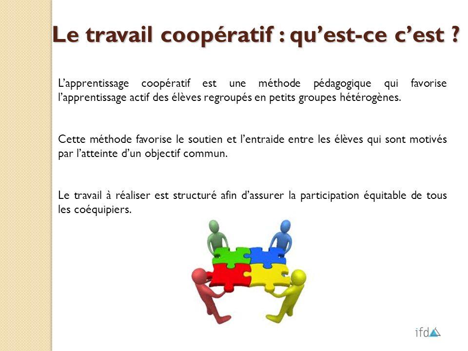 Le travail coopératif : qu'est-ce c'est