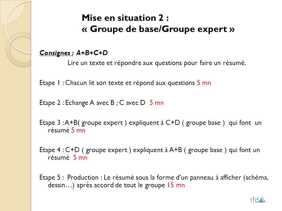 « Groupe de base/Groupe expert »