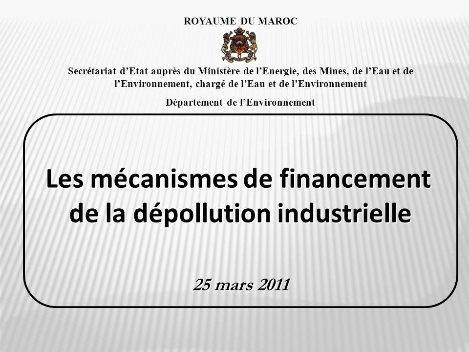 Les mécanismes de financement de la dépollution industrielle
