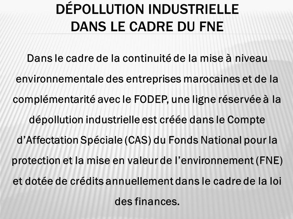 Dépollution industrielle dans le cadre du FNE