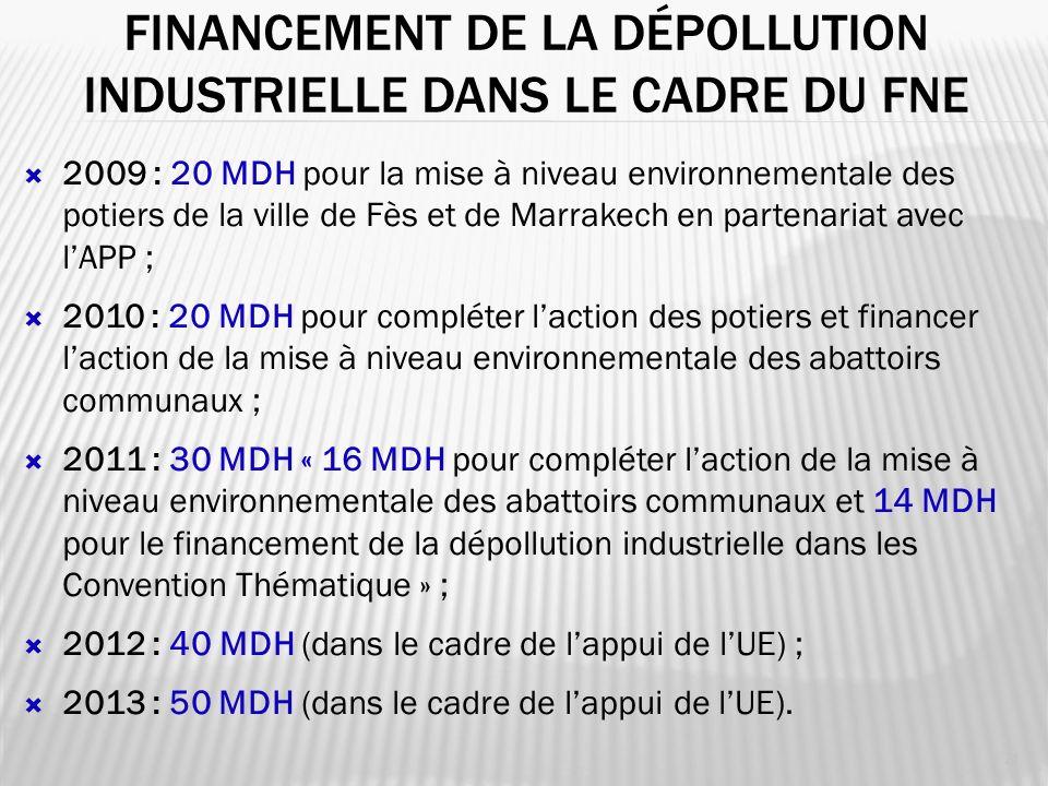 Financement de la dépollution industrielle dans le cadre du fne