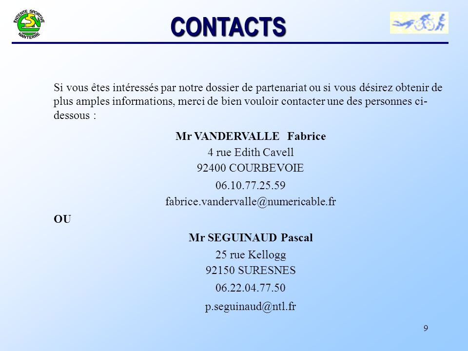 Mr VANDERVALLE Fabrice