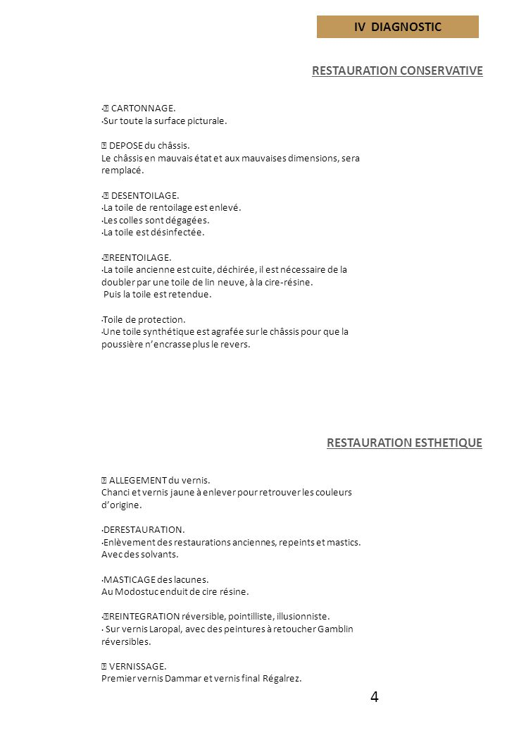 matiere picturale iii constat d etat vernis chancis ppt t l charger. Black Bedroom Furniture Sets. Home Design Ideas