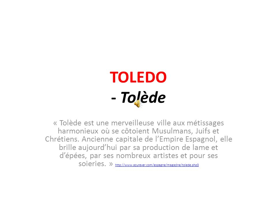 TOLEDO - Tolède