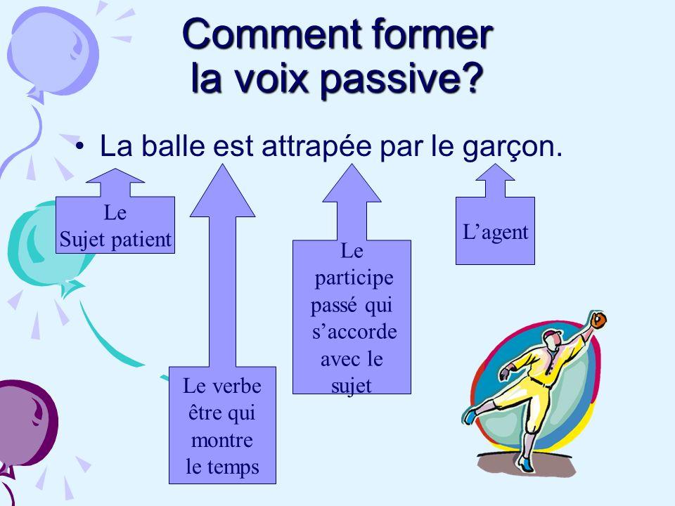 Comment former la voix passive