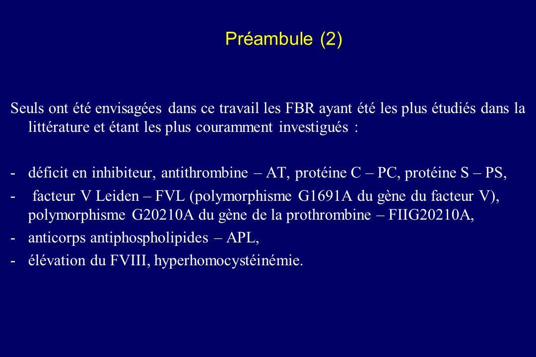 Préambule (2)