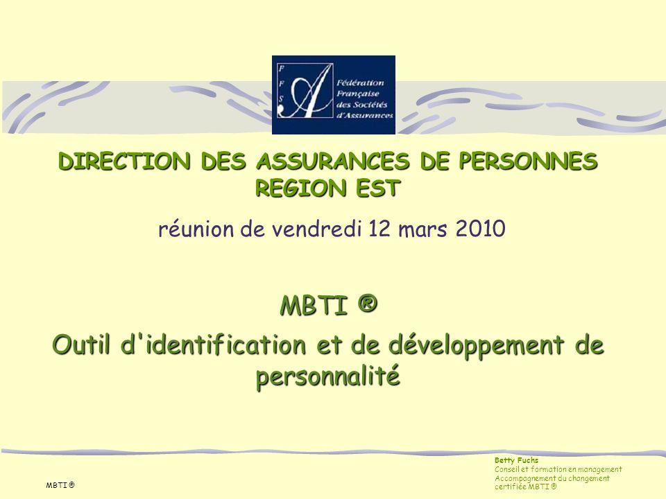 DIRECTION DES ASSURANCES DE PERSONNES REGION EST