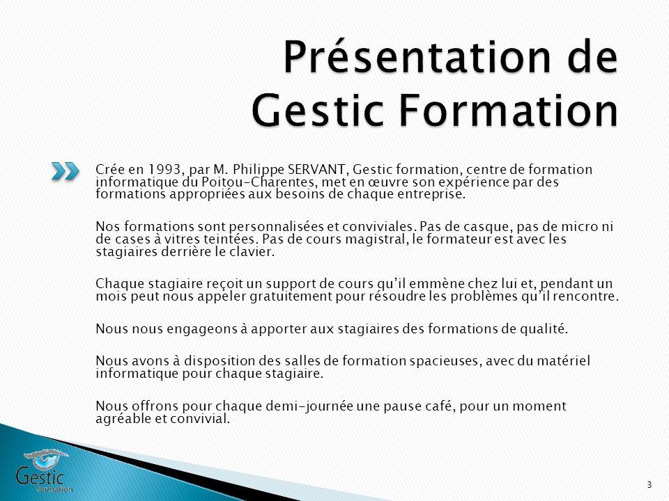 Présentation de Gestic Formation
