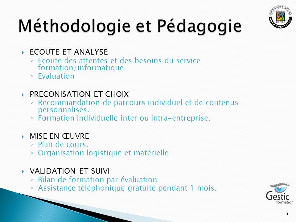 Méthodologie et Pédagogie