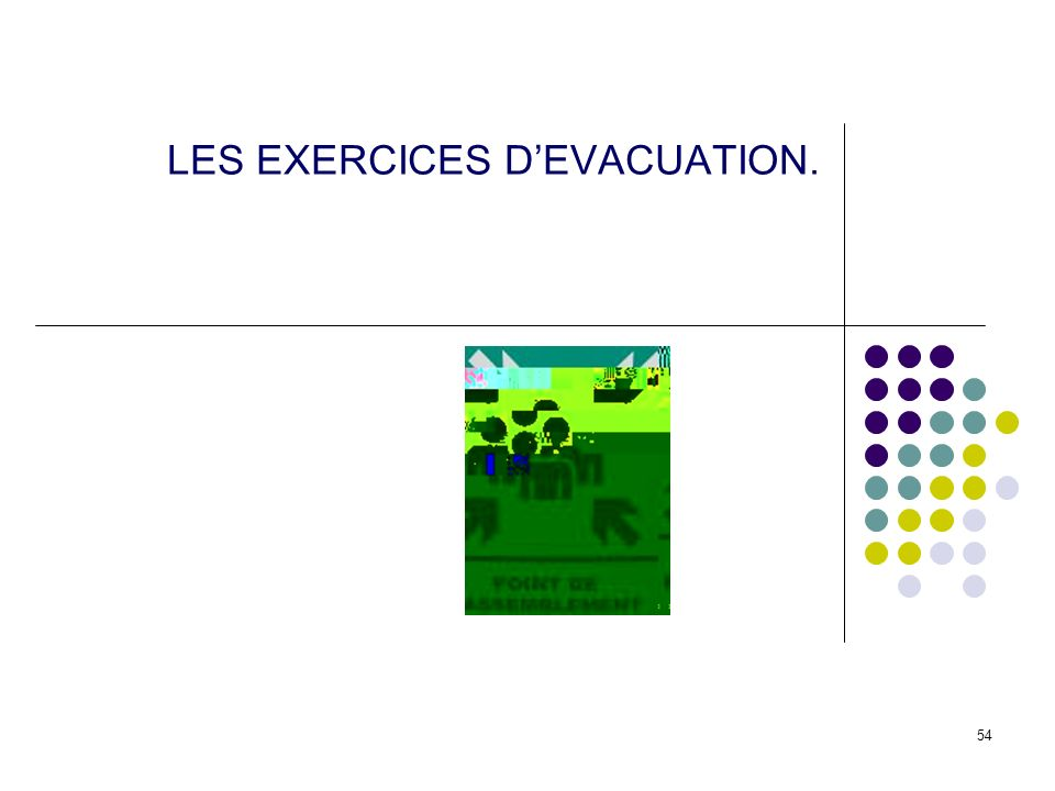 LES EXERCICES D'EVACUATION.