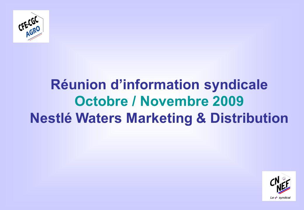 Réunion d'information syndicale Nestlé Waters Marketing & Distribution